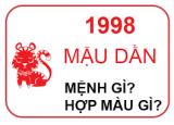 Sinh Năm 1998 Mệnh Gì?